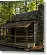 South Carolina Log Cabin Metal Print
