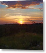 South Dakota Sunset 2 Metal Print