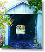 South Denmark Rd. Covered Bridge Metal Print