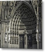 South Entrance Cologne Cathedral Metal Print