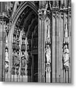 South Entrance Detail Cologne Cathedral Metal Print
