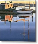 South Harbour Reflections Metal Print