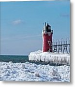 South Haven Ice Metal Print