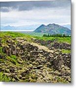 South Iceland Landscape Pingvellir Metal Print