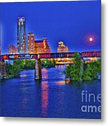 South Lamar Bridge Metal Print
