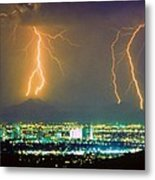 South Mountain Lightning Strike Phoenix Az Metal Print
