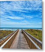 South Padre Island Walkway Metal Print