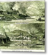 South Pittsburgh And Allegheny City Metal Print