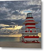 South Pointe Park Lighthouse Metal Print