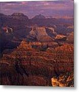 South Rim Grand Canyon Taken Near Yavapai Point Sunset Light On  Metal Print