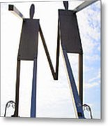 South Street Stick Men Statue Metal Print