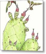 South Texas Nopales For Breakfast Metal Print