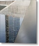 South Tower Reflections Metal Print