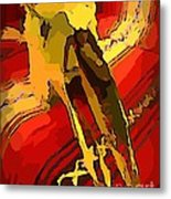 South Western Style Art With A Canadian Moose Skull  Metal Print