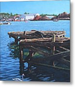 Southampton Northam River Itchen Old Jetty With Sea Birds Metal Print