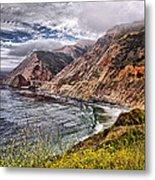 Souther California Coast Metal Print