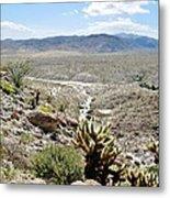Southern California Desert Landscape Metal Print