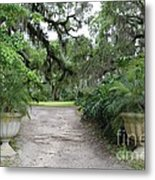 Southern Garden Welcome Metal Print