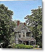 Southern Home Metal Print by Beverly Hammond