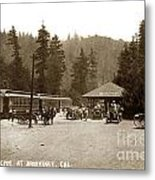 Southern Pacific Depot At Brookdale Santa Cruz Co. Cal. Circa 1910 Metal Print