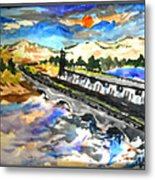 Southern River Dam Metal Print