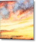 Southern Sunset - Digital Paint Iv Metal Print