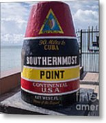 Southernmost Point Marker Metal Print