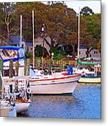 Southport Watercolor Metal Print by Garland Johnson