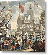 Southwark Fair, 1733, Illustration Metal Print