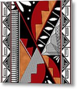 Southwest Collection - Design Seven In Red Metal Print