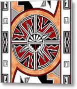 Southwest Collection - Design Six In Red Metal Print