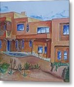 Southwestern Home Illustration Metal Print
