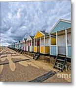 Southwold Beach Huts 4 Metal Print