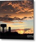 Water Towers On Southwold Common Metal Print