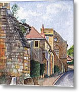 Souvigny Eclectic Architecture In A Village In Central France Metal Print