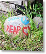 Sow Peace Reap Love Metal Print