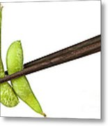Soy Beans With Chopsticks Metal Print