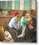 Soyer's A Railroad Station Waiting Room Metal Print