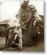 S P Baldwin Locomotive 2285  Class T-26 Ten Wheel Steam Locomotive At Pacific Grove California 1910 Metal Print