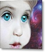 Space Child Metal Print