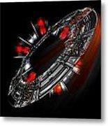 Space City Metal Print
