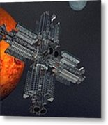 Space Colony Metal Print
