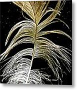 Space Feather Metal Print