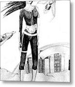 Space Girl 5000 Metal Print