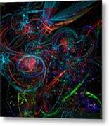 Space Junk Mental Energy From Earth Metal Print