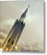 Space Launch System Launch Metal Print