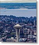 Space Needle 12th Man Seahawks Metal Print