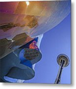 Space Needle And Emp In Perspective Non Hdr Metal Print