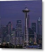 Space Needle At Twilight Metal Print