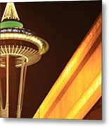 Space Needle Monorail  Metal Print